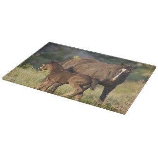 Wild Horses at Theodore Roosevelt National Park Cutting Board