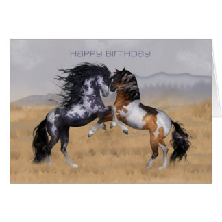 Wild Horses Birthday Greeting Card