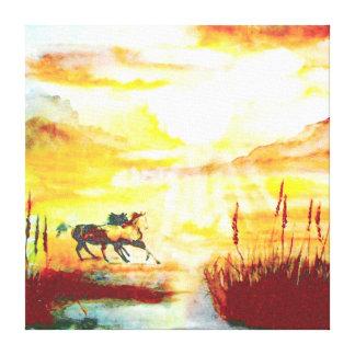 Wild Horses. Canvas Print