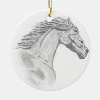 Wild Horses Christmas Ornament