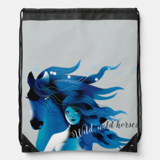 Wild Horses Drawstring Backpack