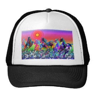 wild horses galloping cap