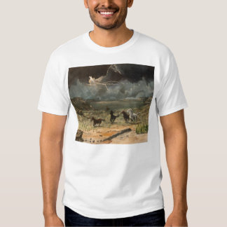 Wild Horses in a Thunderstorm T Shirts