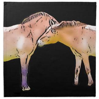 Wild Horses Kissing Napkin