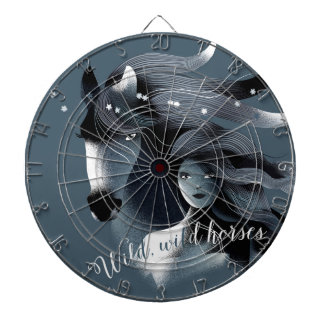 Wild Horses Metal Cage Dart Boards