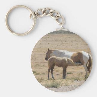 Wild Horses Nursing Key Ring