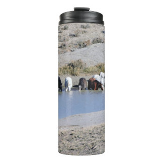 Wild Horses of Sand Wash Basin,  Colorado Thermal Tumbler