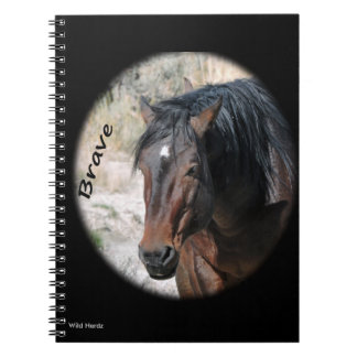 Wild Horses of Sand Wash Basin Spiral Notebook