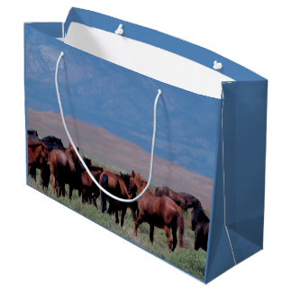 Wild Horses Out West Large Gift Bag
