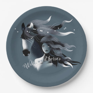 Wild Horses Paper Plate