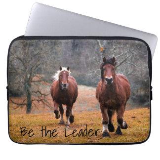 Wild Horses Racing in Woods Laptop Sleeve