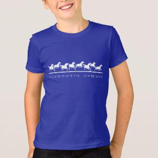 Wild horses running Authentic Cowboy T-Shirt