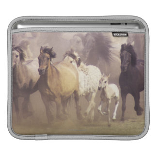 Wild horses running iPad sleeve