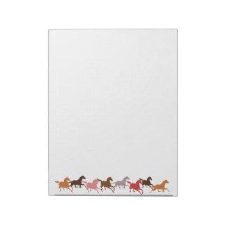 Wild horses running notepad
