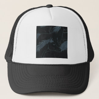 Wild horses, Silver manes and tails Trucker Hat
