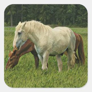 Wild Horses Square Sticker