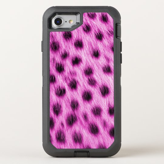 Wild Hot Pink Spotted Cheetah Fur Look OtterBox Defender iPhone 8/7 Case