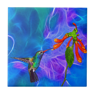 Wild Hummingbird Bird-lover's Art Series Small Square Tile
