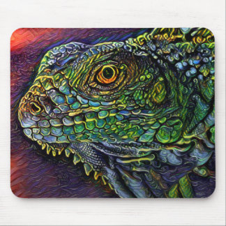 Wild Iguana Lizard Mouse Pad Digital Painting