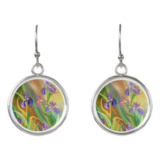 Wild Iris Earrings