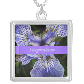 Wild Iris wildflower inspiration necklace