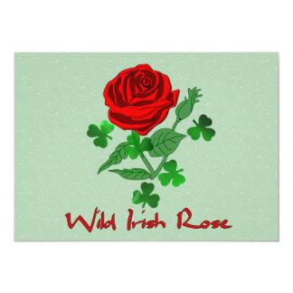 Wild Irish Rose 13 Cm X 18 Cm Invitation Card