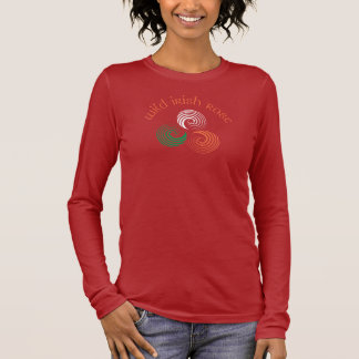 Wild Irish Rose 2 - orange text Long Sleeve T-Shirt