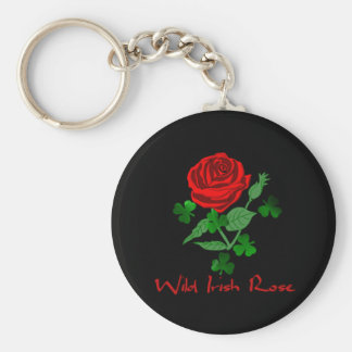 Wild Irish Rose Basic Round Button Key Ring