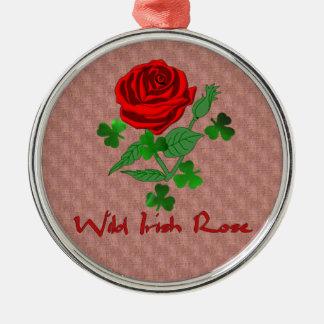 Wild Irish Rose Christmas Ornament