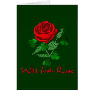 Wild Irish Rose Greeting Card