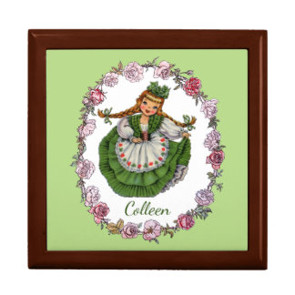 Wild Irish Rose Large Square Gift Box