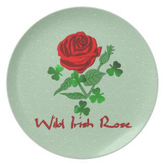 Wild Irish Rose Plate