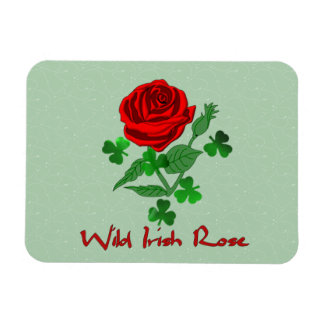 Wild Irish Rose Rectangle Magnets