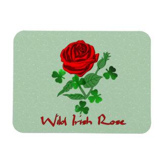 Wild Irish Rose Rectangular Photo Magnet