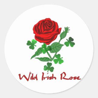 Wild Irish Rose Round Sticker