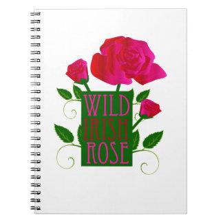 Wild Irish Rose Spiral Notebooks