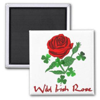 Wild Irish Rose Square Magnet