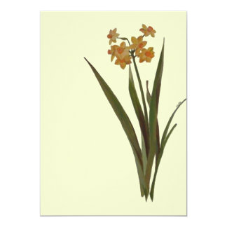 Wild Jonquil 5x7 Paper Invitation Card
