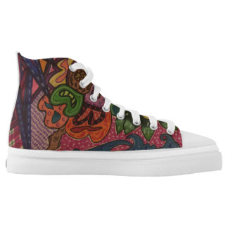 Wild jungle printed shoes