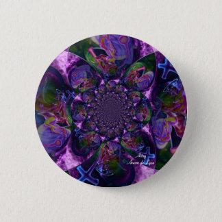 Wild Kaleidoscope Saturn 6 Cm Round Badge