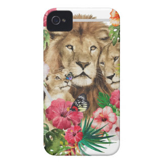 Wild King Jungle Lion Animals iPhone 4 Case-Mate Cases