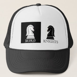 Wild Knights Black & White Chess Mens Hat