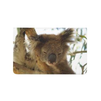 Wild koala sleeping on eucalyptus tree Photo To Do Journal