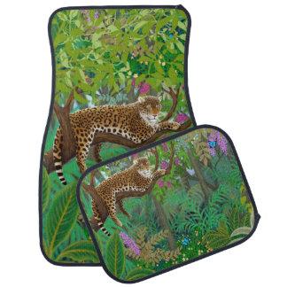 Wild Leopard Cat in the Jungle Car Mat Set