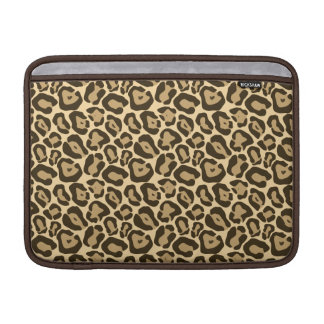 Wild Leopard Pattern MacBook Sleeve