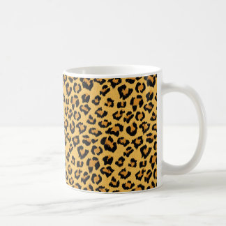 Wild Leopard Print Fake Fur Safari Pattern Coffee Mug