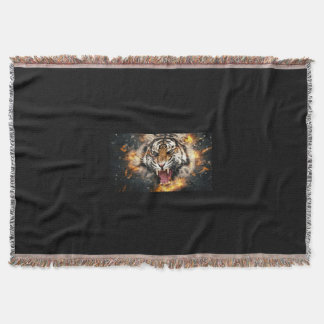 Wild Leopard Throw Blanket