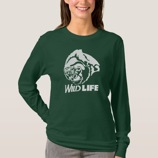 Wild Life Animal Shirt, Mountain Gorilla T-Shirt