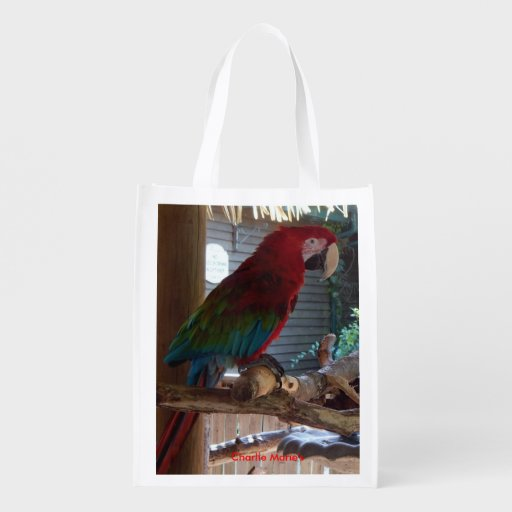 Wild Life Collection  Exotic Birds Two Sided Bag Reusable Grocery Bag