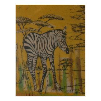 Wild Life Kenya African Safari Zebra.png Postcard